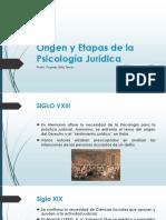 Origen y Etapas de La Psicología Jurídica