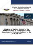 IG Report on 2016 Election