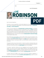 Councillor Jaye Robinson's June ENewsletter