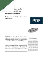 LISBOA, T. Genero, Classe e Etnia - Trajetórias de Vida de Mulheres Migrantes