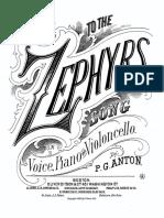 Anton - To the Zephyrs Voice Cello Piano