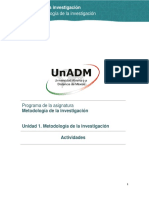 Unidad 1. Metodologia de La Investigacion Actividades