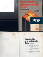 Introduccion a La Metalurgia Fisica Avner 2da Ed