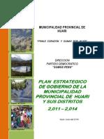 Plan de Gobierno Provincia de Huari