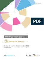 ICP de mayo según el INDEC