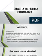 Tercera Reforma Educativa