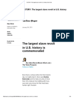 HISTORY_ the Largest Slave Revolt in U.S