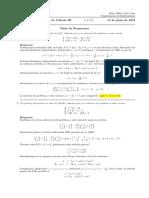 Corrección Examen Final de Ecuaciones Diferenciales, jueves 14 de junio de 2018