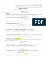 Corrección Examen Final Ecuaciones Diferenciales, 11 de junio de 2018
