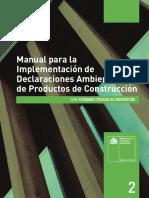 Manual Para La Implementación de Declaraciones Ambientales de Productos de Construcción