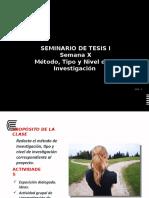 Semana09_Metodología Tipo y Nivel