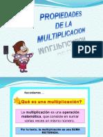 Ppt Propieedades de La Multiplicacion