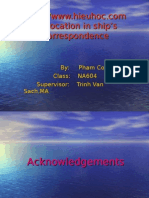 A Study on Collocation in Ship's Correspondence