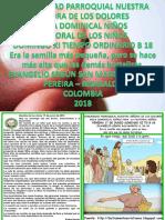 HOJITA EVANGELIO NIÑOS DOMINGO XI TO B 18 Color