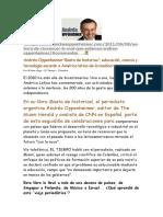 Andres Oppenheimer Educacion Ciencia Tecnologia Sacaran Latinoamerica Mediocridad