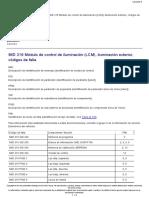 Mid 126 Modulo de Control de Iluminacion (Lcm) Codigos de Falla