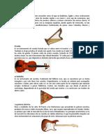 instrumentos decuerdas