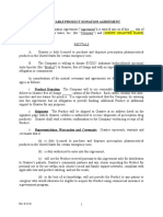 Form of Charitable Donation Agreement (Non 501(c)(3))