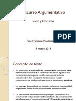 03 Discurso Argumentativo - Texto y Discurso