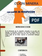 Criterios de Prospeccion