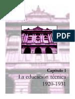 Lectura 3 [La Educación Técnica 1920-1931]