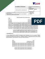 Prueba C-2 química 1° M Atrasada
