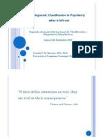 diagnóstico y clasificación en psiquiatría - lo que queda fuera - claudio banzato