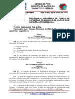 LEI N° 522.2009 CONCESSÃO DE TERRAS