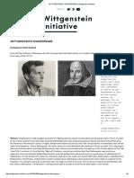 Wittgenstein's Shakespeare _ Wittgenstein Initiative