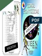 Cuadernillo Solista Queen 2018