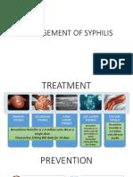 Management of Syphilis