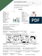 Aval 1 Bim Portugues