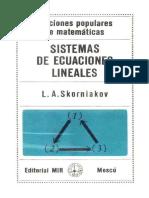 Sistemas de Ecuaciones Lineales - Skorniakov