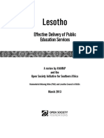 Education Service Delivery-Final Report