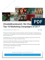 Top 10 Marketing Campaigns of 2017