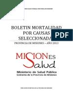 Mortalidad General Por Causas Seleccionadas Año2013-Boletin