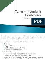 Taller – Ingeniería Geotécnica