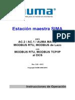 Estación Maestra SIMA - Actuadores AUMA