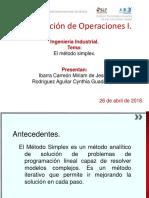 Solución de modelo en Investigación de Operaciones