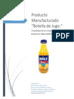 Propiedades mecánicas, químicas, físicas y aplicaciones a la industrial de los componentes de una botella