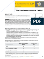Application Instruction 1.14 Quality Control Testing Spanish