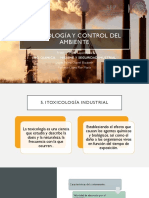 Toxicología y Control Del Ambiente