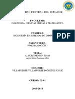 ALGORITMO SECUENCIAL 1