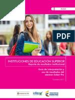 Guia interpretacion resultados saber pro - instituciones - 2017.pdf