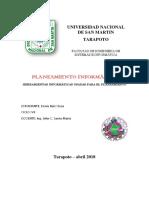 Herramientas Informaticas Usadas Para El Planeamiento