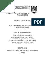 Políticas de Descentralización y Su Impacto Regional
