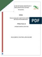 Practica III Cromatografia en capa fina