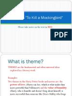 Theme in to Kill a Mockingbird