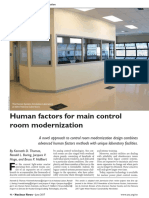 Human factors for main control room modernization