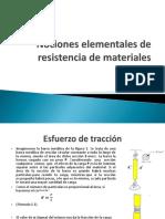 Nociones Elementales de Resistencia de Materiales